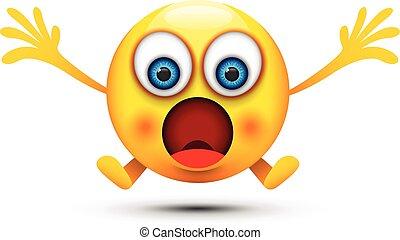 boca, aberta, chocado, emoji