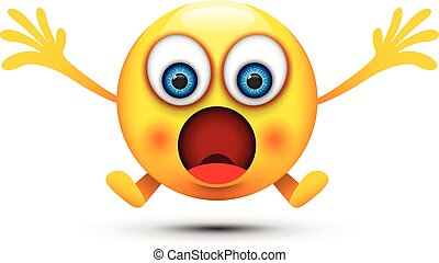 boca, abierto, sorprendido, emoji