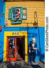 boca, coloré, maisons, voisinage, buenos aires, argentine