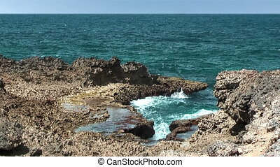 Boca Pistol blowhole Curacao - Boca Pistol...