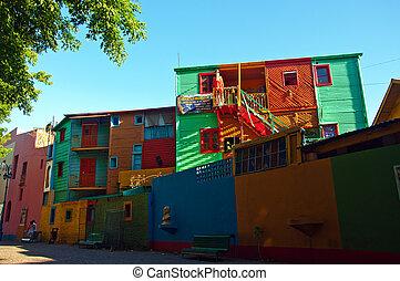 boca, voisinage, dans, buenos, aire