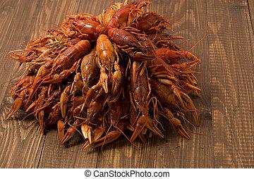 bocado, crayfishes, delicioso