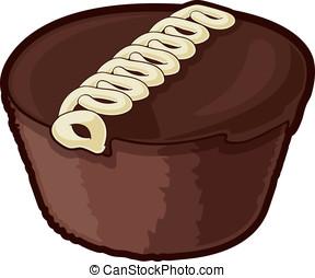 bocado, pastel