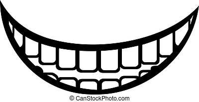 bocca grande, ridere, grasso