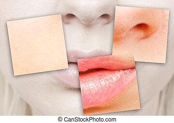 bocca, naso