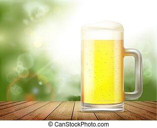 boccale vetro, birra