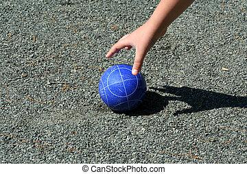 bocce 球, 手, 手を伸ばす