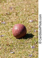 bocce 球, 緑の草