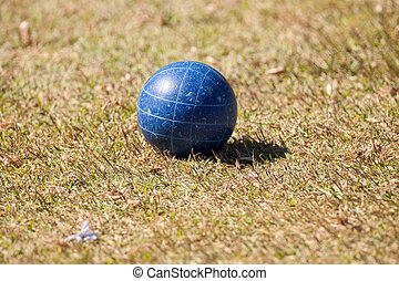 Bocce ball on the green grass