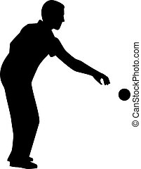 Bocce Player Silhouette
