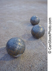 Boccia - Metal spheres for game in boccia on sand