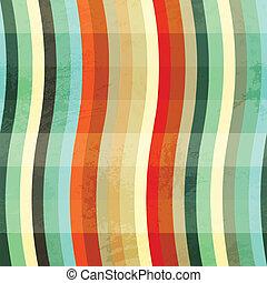 bocht, grunge, gekleurde, seamless