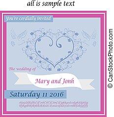 boda,  2, invitación