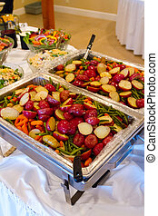 boda, alimento, banquete