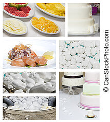 boda, alimento, collage