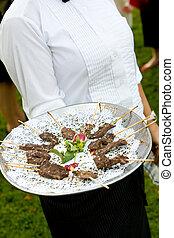 boda, aperitivos, ser, servido