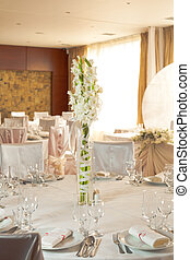 boda blanca, tabla, conjunto