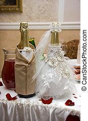 boda, champaña