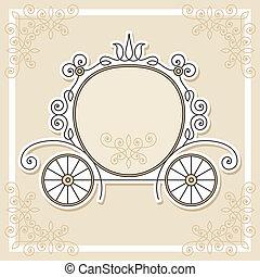 boda, diseño, invitación