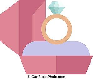 boda, dorado, anillo, aislado, blanco, plano de fondo