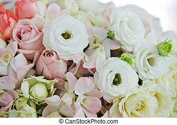 boda, flowers.
