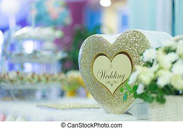 boda, lugar, decoración