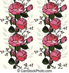 boda, madre, valentino, seamless., inglés, día, saludo, rosas, holiday., otro, cumpleaños, invitación, diseño, día, tarjeta