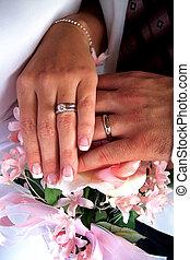 boda, manos