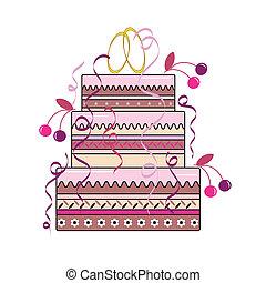 boda, pastel