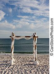 boda playa, arco