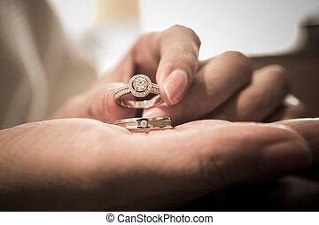 boda, ring.