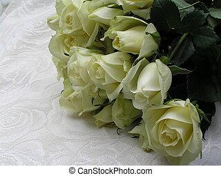 boda, rosas