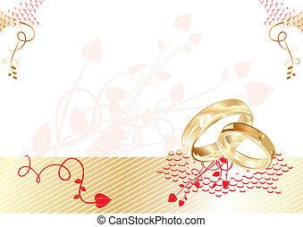 boda, tarjeta