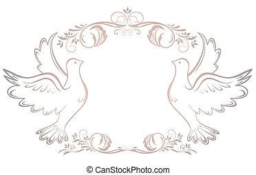 boda, vendimia, marco