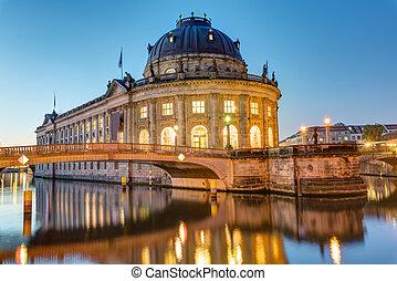 bode-museum, ベルリン, 夜明け