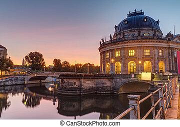 bode-museum, ベルリン, 日の出