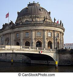 Bode Museum and the River Spree in Berlin