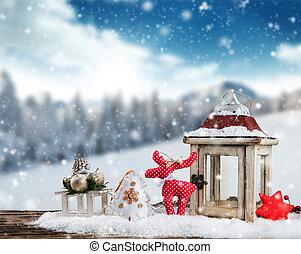 bodegón de navidad, plano de fondo