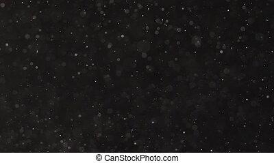 bodem, bovenzijde, stukken, achtergrond., microscopisch, stof, black , het vallen
