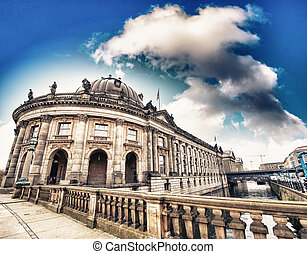 Bodemuseum and city bridge in the center of Berlin