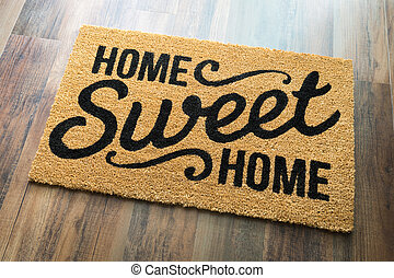 boden, daheim, lieb, matte, herzlich willkommen