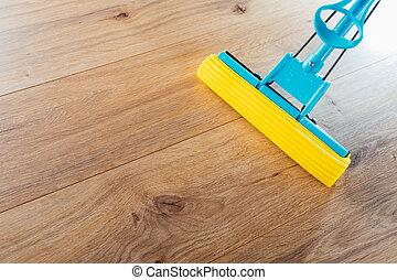 Wischmop Hausarbeit Putzen Boden Altes Boden Auf Wischmop