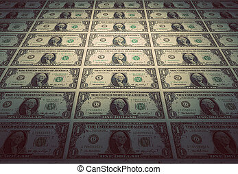 boden, von, dollar, banknoten., weinlese, stimmung