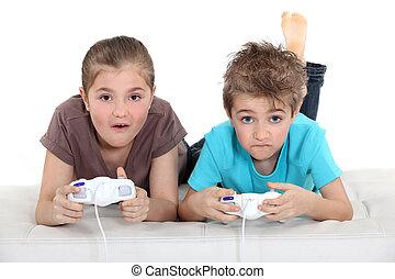 boder søster, boldspil spille video