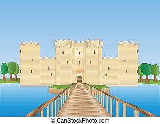 Bodiam castle in Sussex