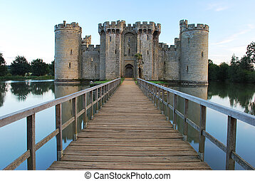 Bodiam Castle in East Sussex, England.