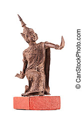 Bodkhisattva - the figure made of bronze in classical Thai style.