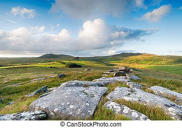 Bodmin Moor Landscape - A view over Bodmin Moor in Cornwall ...