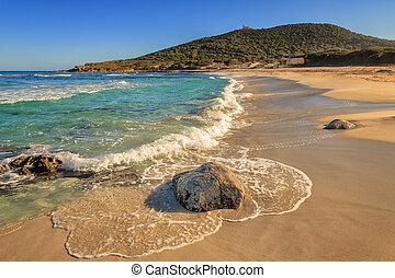 Bodri beach near Ile Rousse in Corsica - A deserted Bodri ...