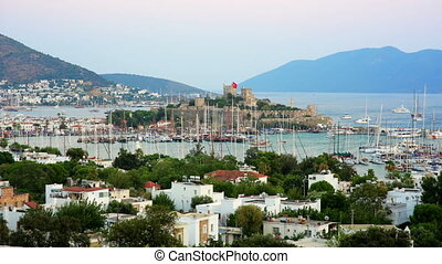 Bodrum, famous holiday destination in turkey, timelapse, HD
